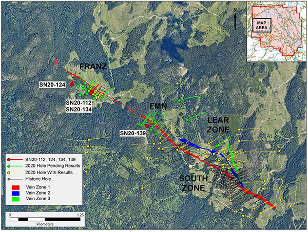 PLAN MAP OF RECENT DRILLING