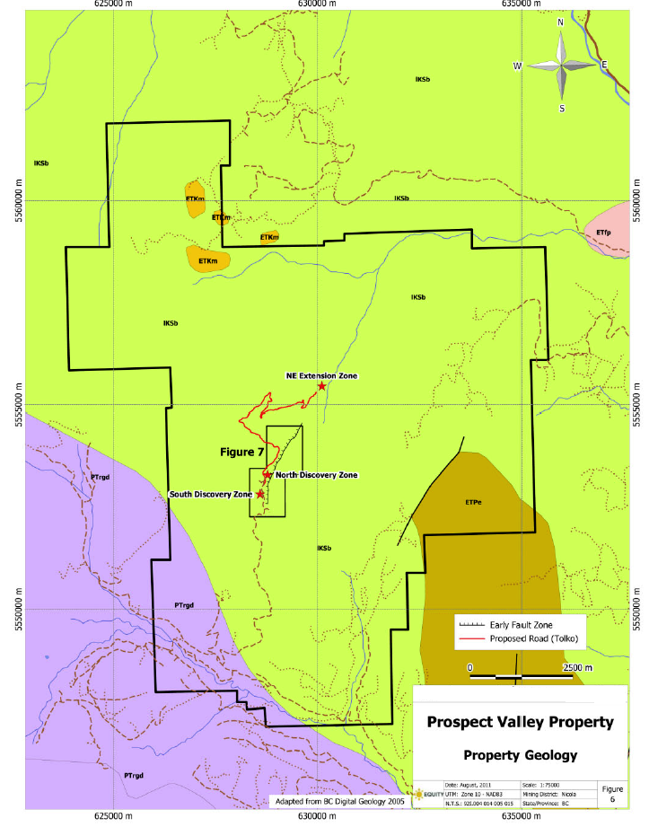 Prospect Valley Property Geology