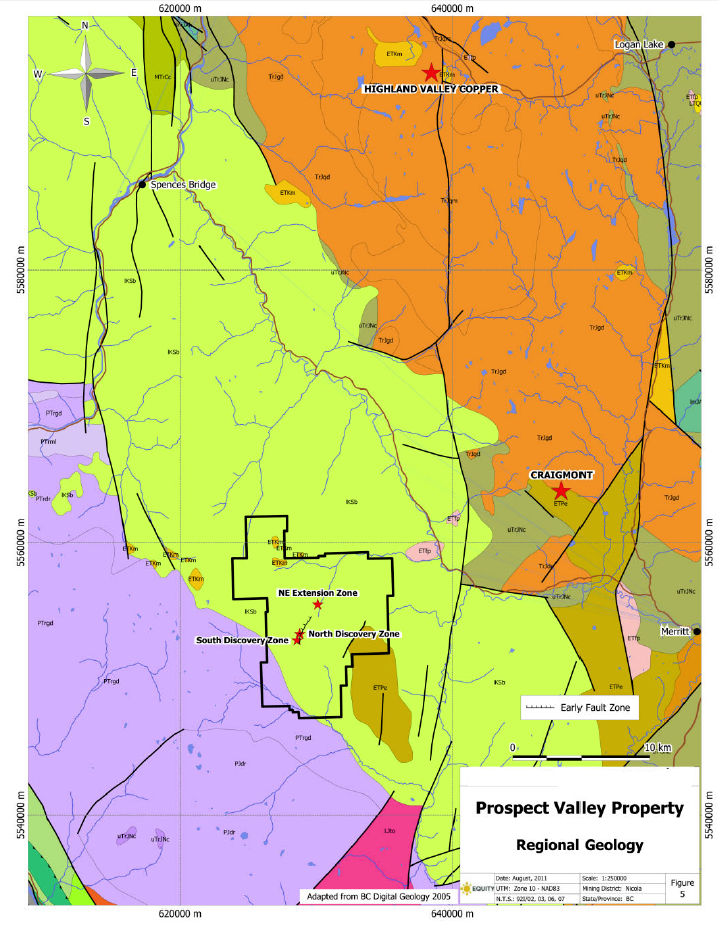 Prospect Valley Regional Geology