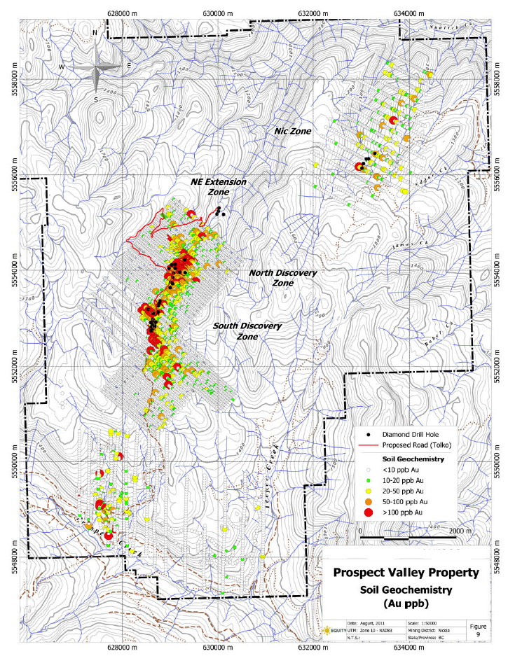 Prospect Valley Soil Geochemical Map